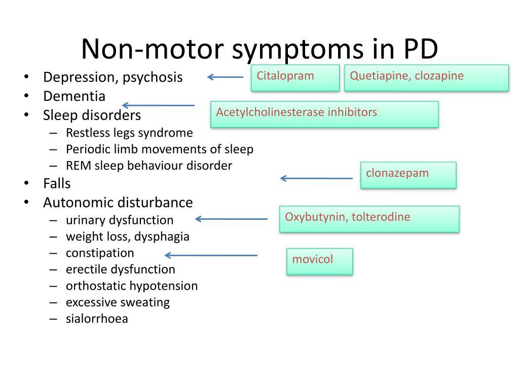 Non-motor symptoms in PD