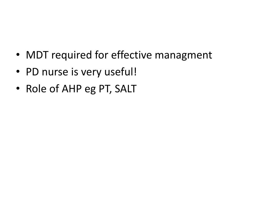 MDT required for effective managment