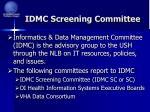 idmc screening committee