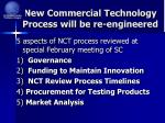 new commercial technology process will be re engineered