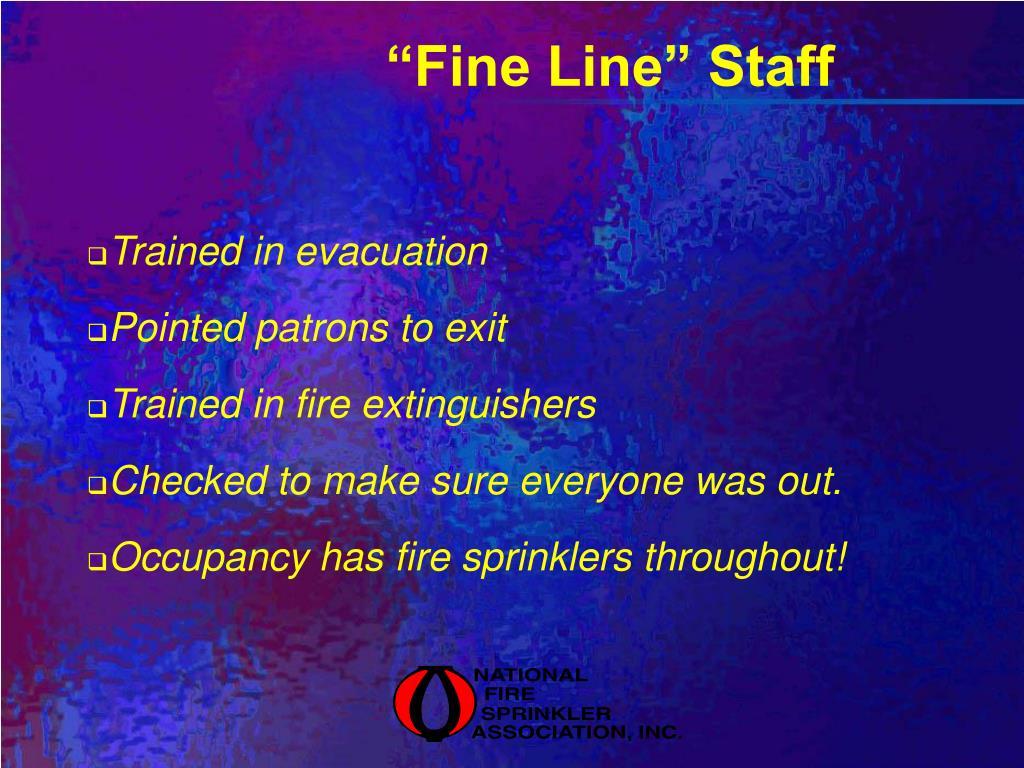 """""""Fine Line"""" Staff"""