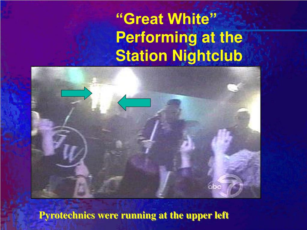 """""""Great White"""" Performing at the Station Nightclub"""