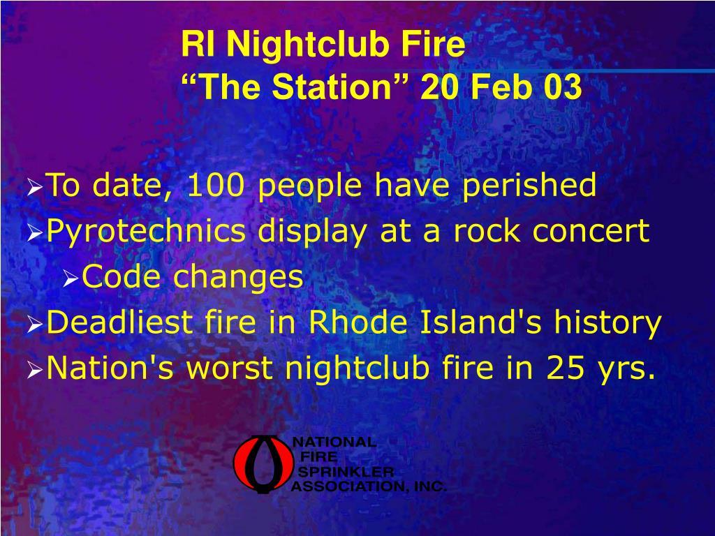RI Nightclub Fire