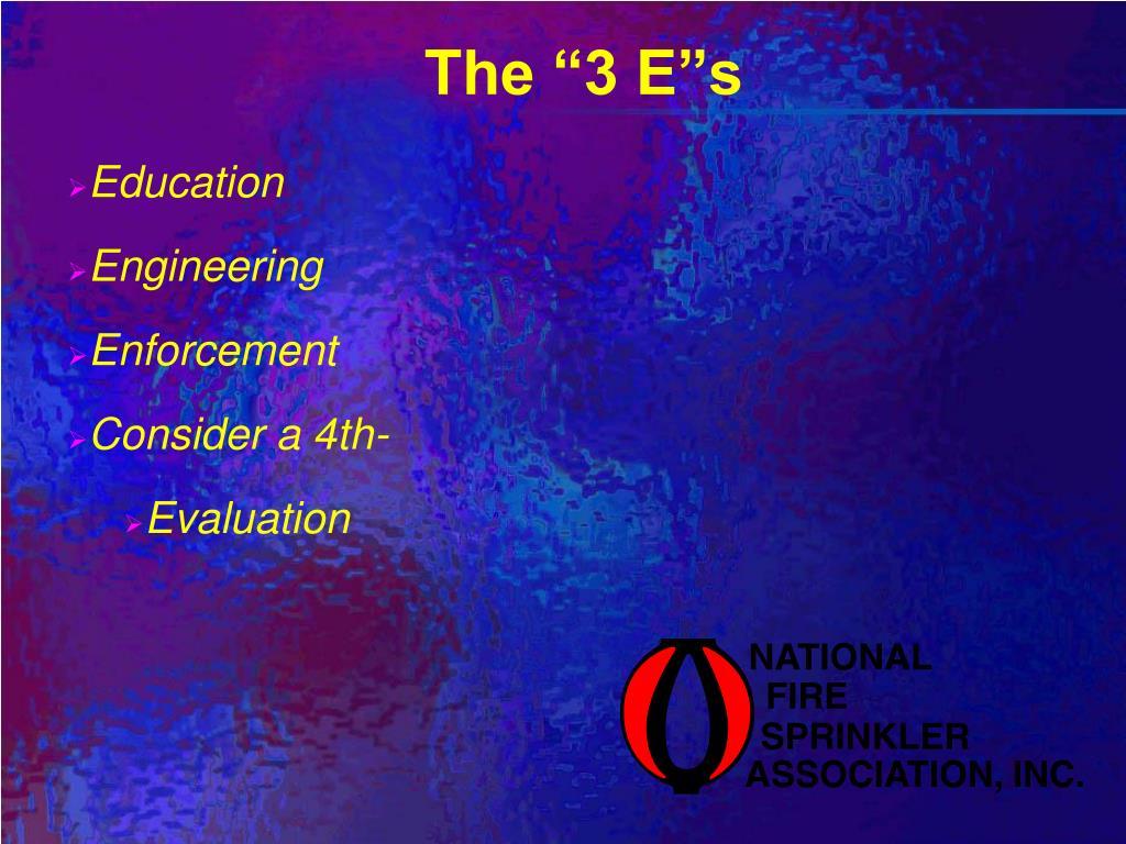 """The """"3 E""""s"""