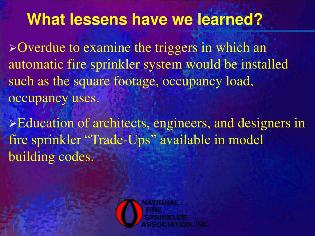 What lessens have we learned?