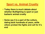 sport vs animal cruelty