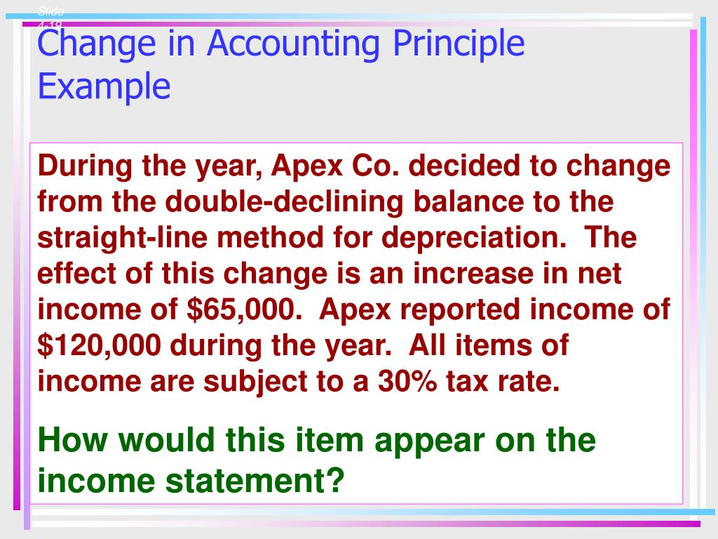 Change in Accounting Principle Example