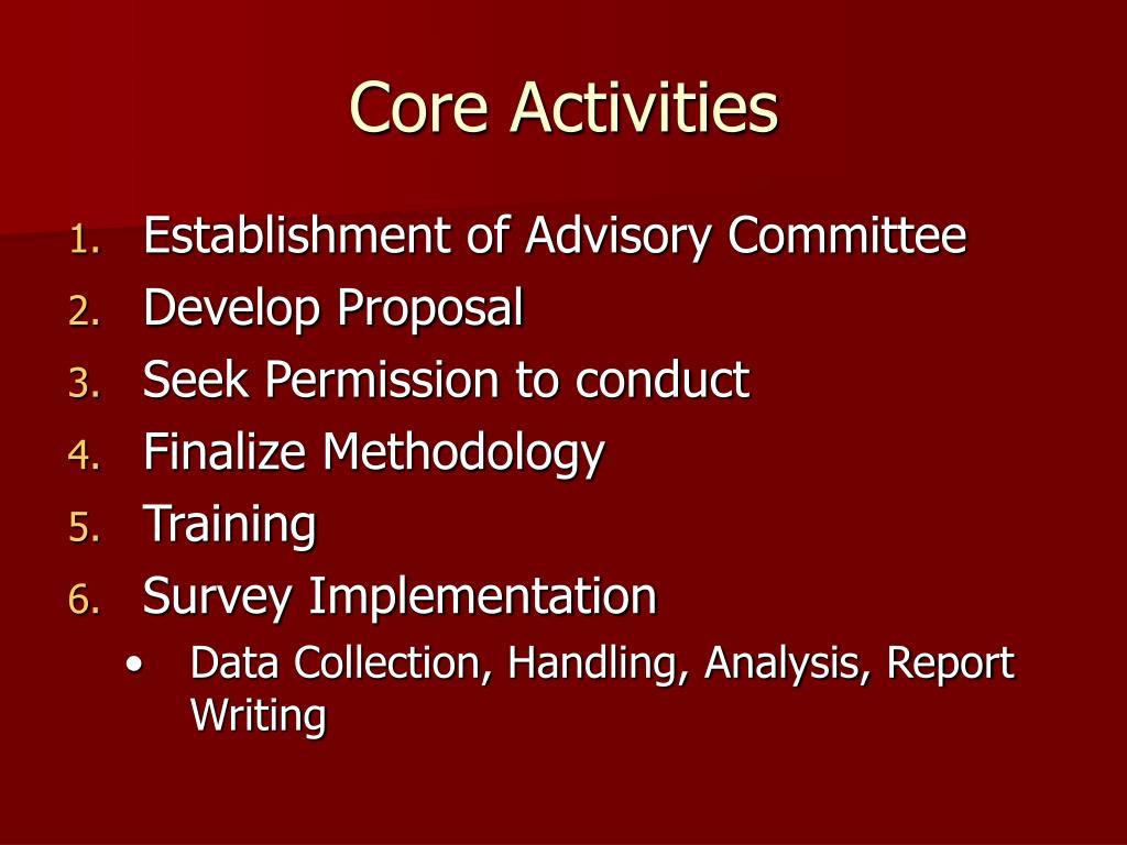 Core Activities