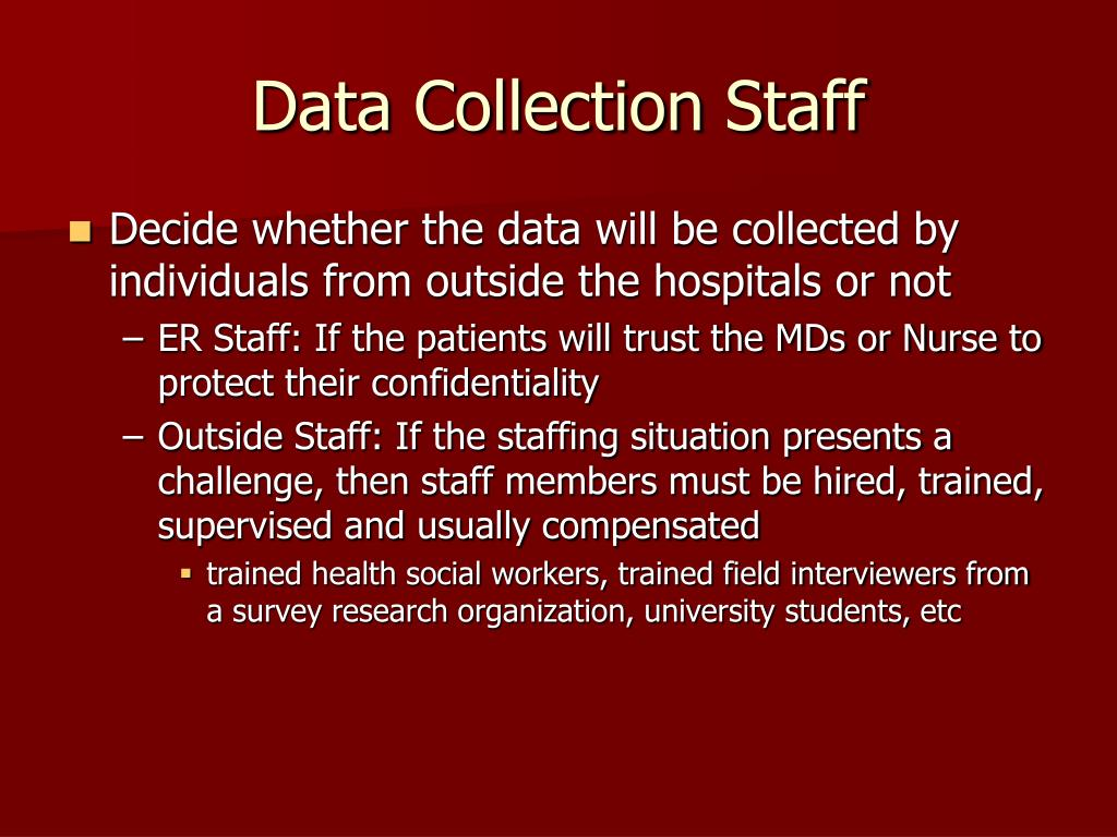Data Collection Staff