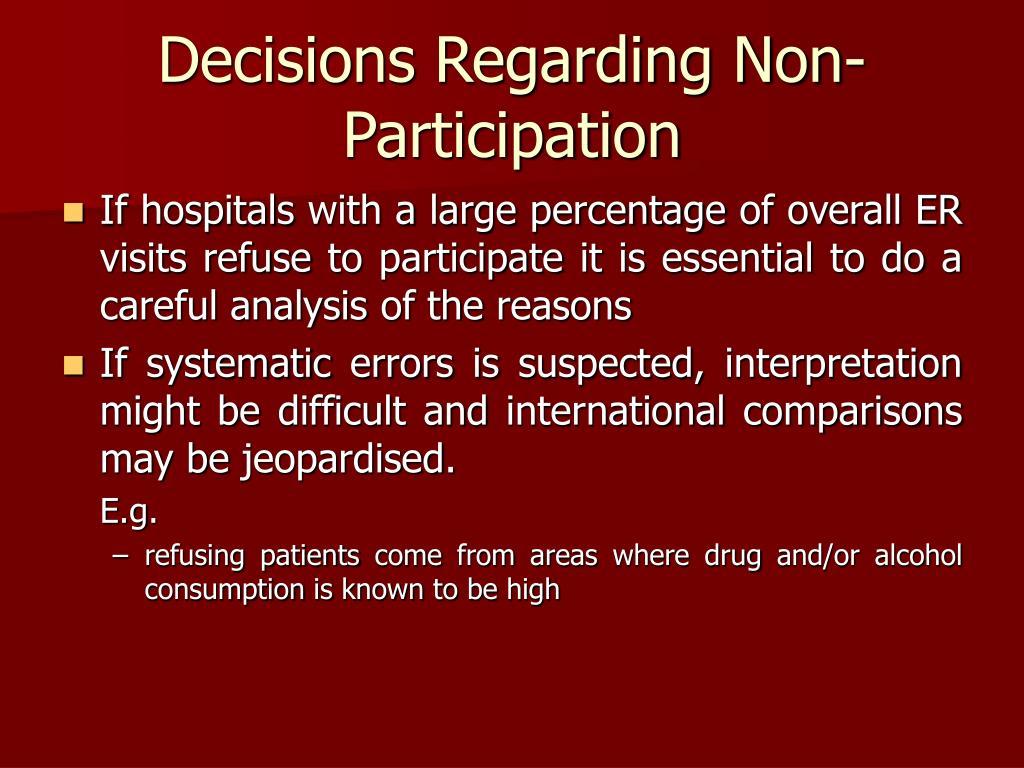 Decisions Regarding Non-Participation