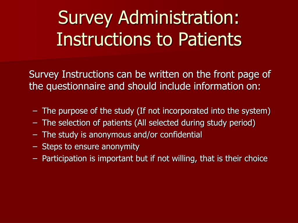 Survey Administration: