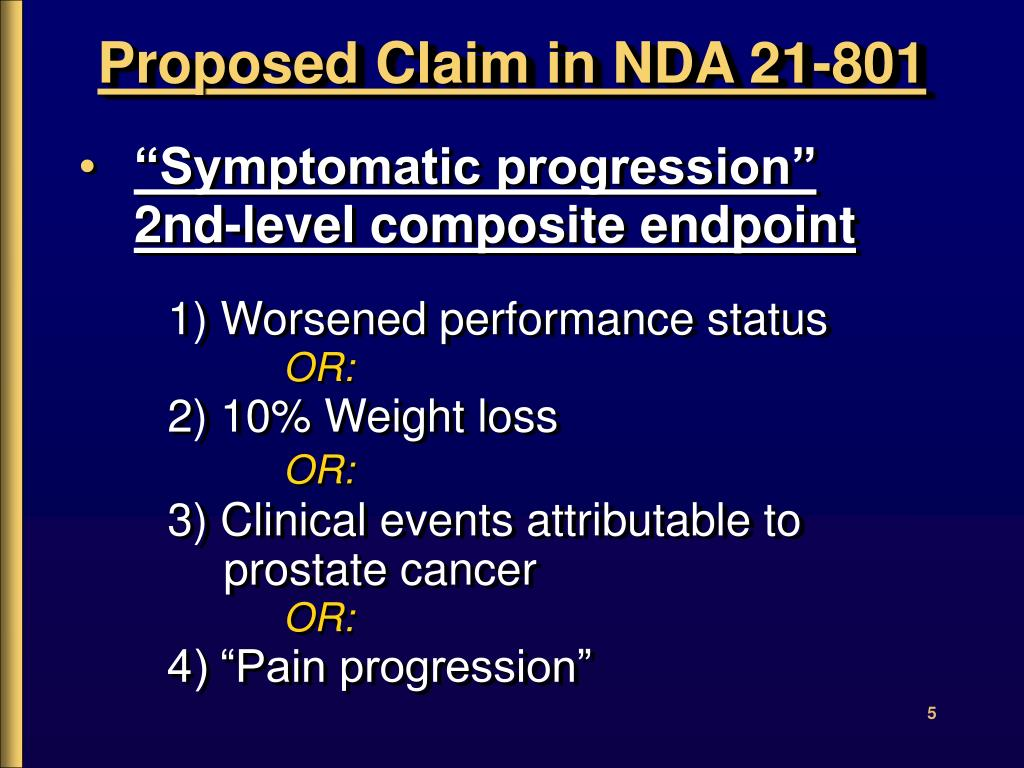 Proposed Claim in NDA 21-801