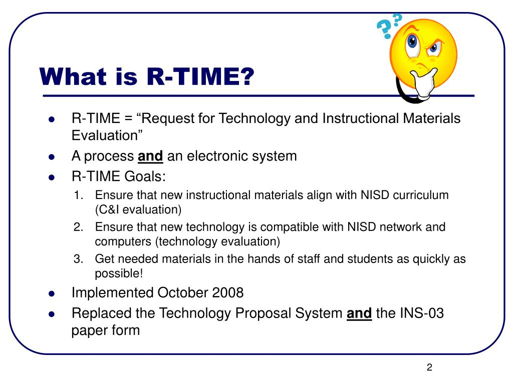 What is R-TIME?