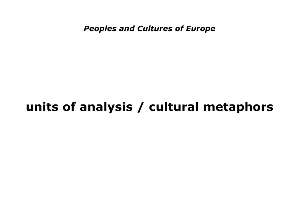 peoples and cultures of europe l.