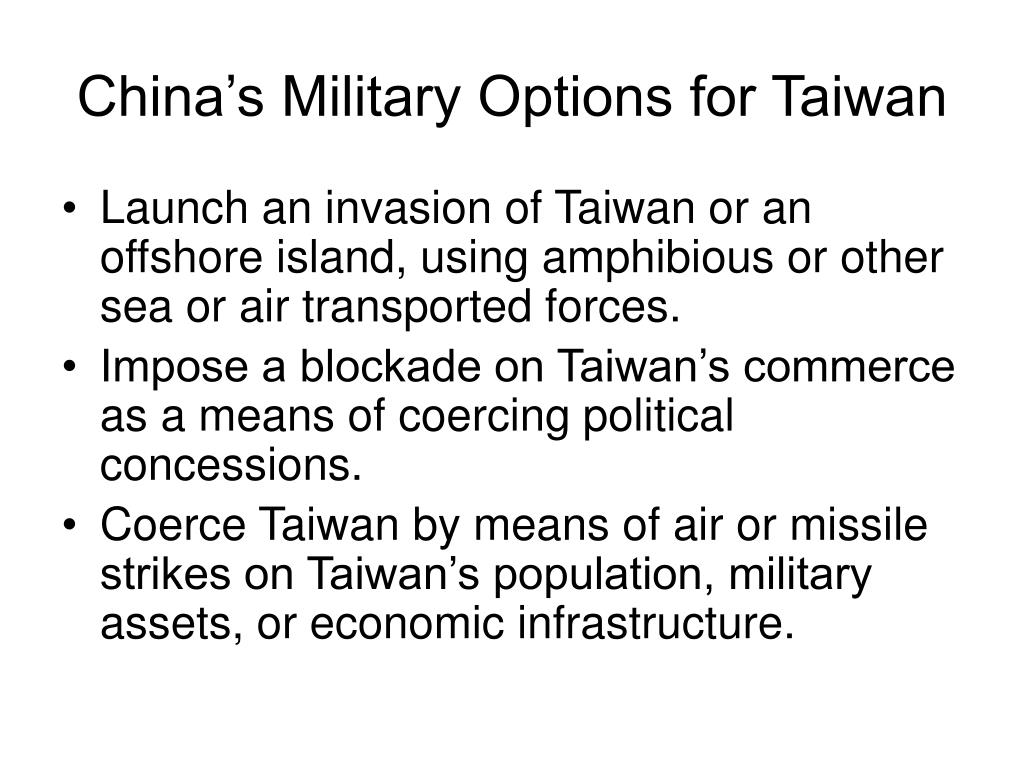 China's Military Options for Taiwan