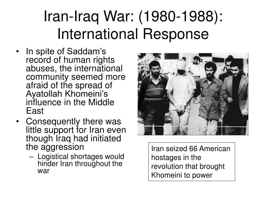 Iran-Iraq War: (1980-1988):