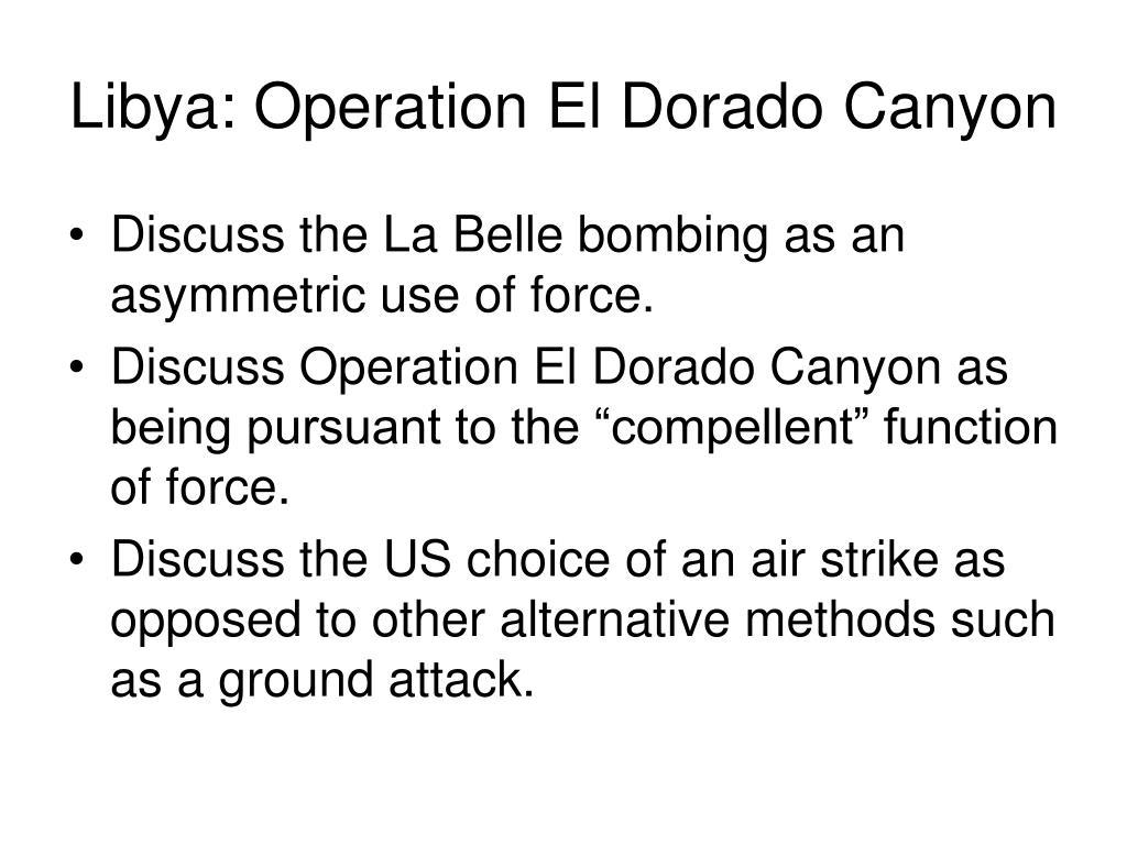 Libya: Operation El Dorado Canyon
