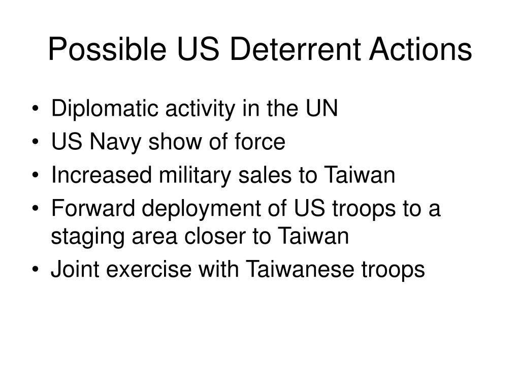 Possible US Deterrent Actions