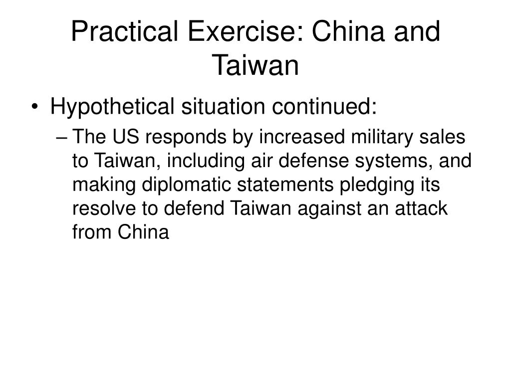 Practical Exercise: China and Taiwan