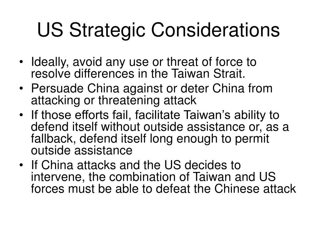 US Strategic Considerations