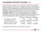 completed contract example 2