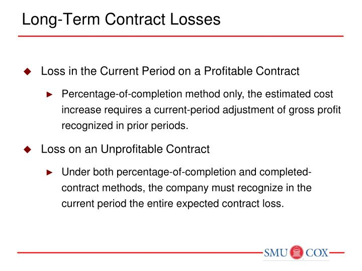 Long term contract losses