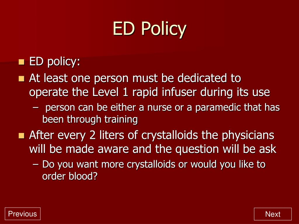ED Policy