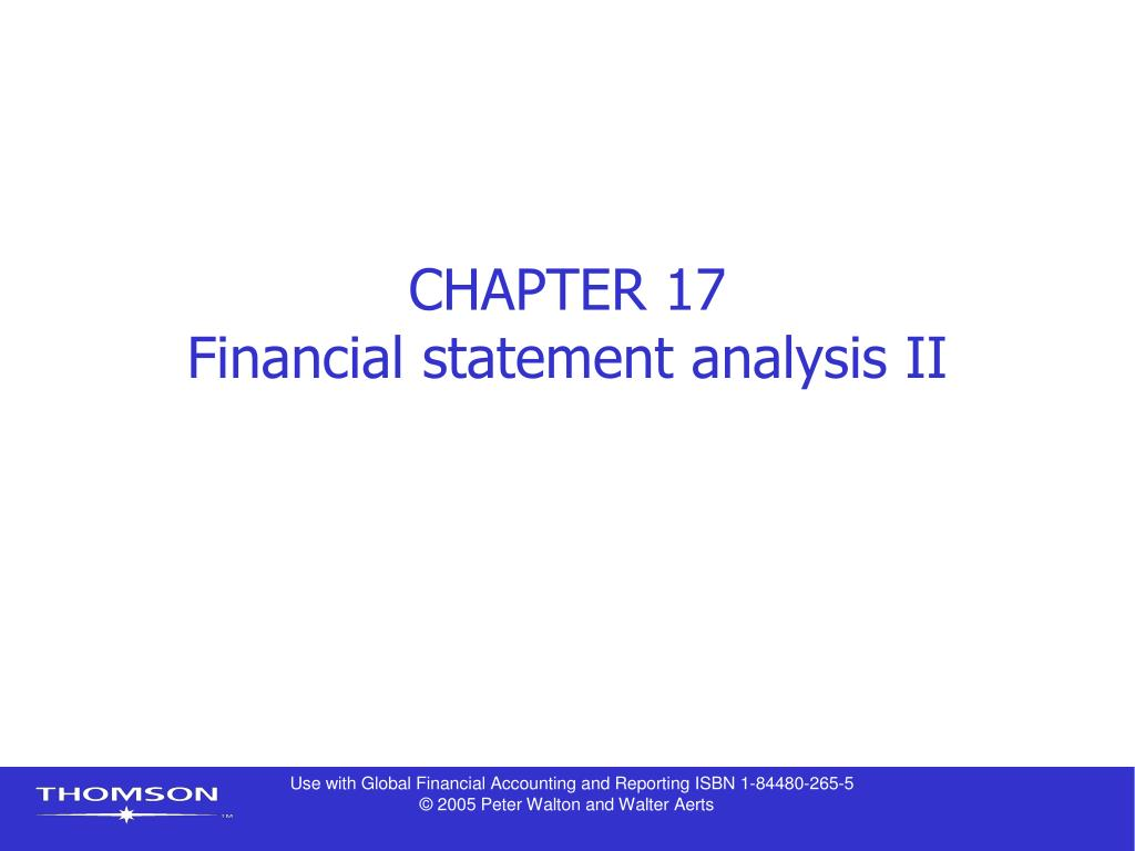 chapter 17 financial statement analysis ii l.