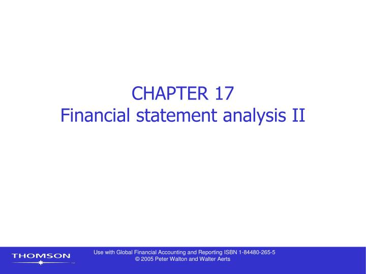 chapter 17 financial statement analysis ii n.