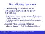 discontinuing operations