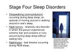 stage four sleep disorders