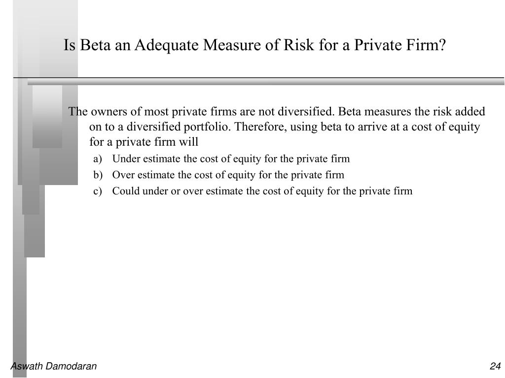 Is Beta an Adequate Measure of Risk for a Private Firm?
