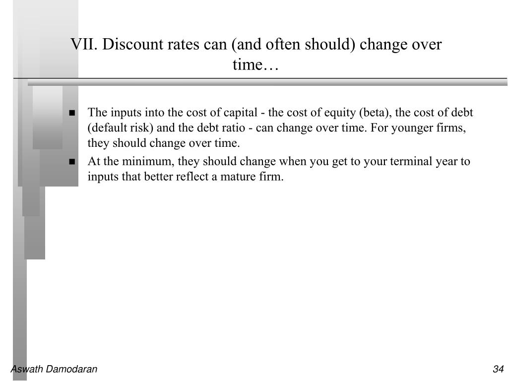 VII. Discount rates can (and often should) change over time…