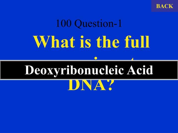 100 question 1