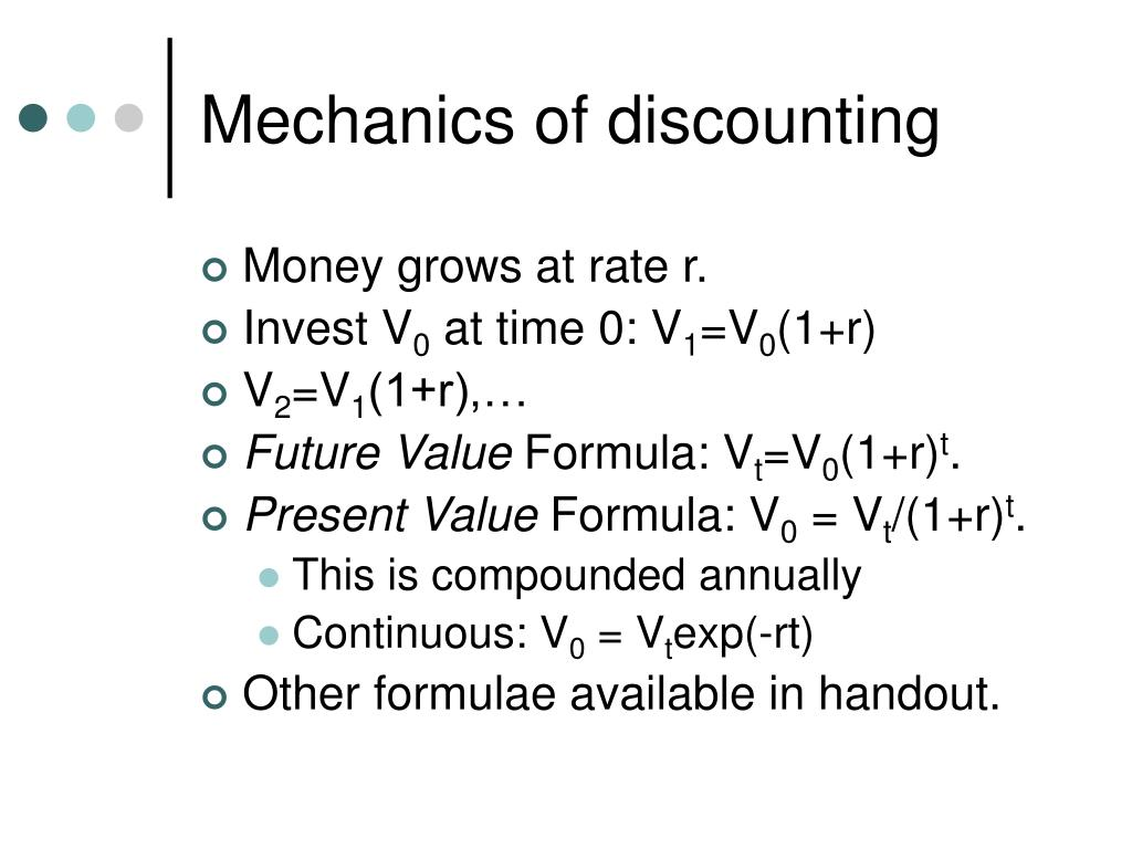 Mechanics of discounting
