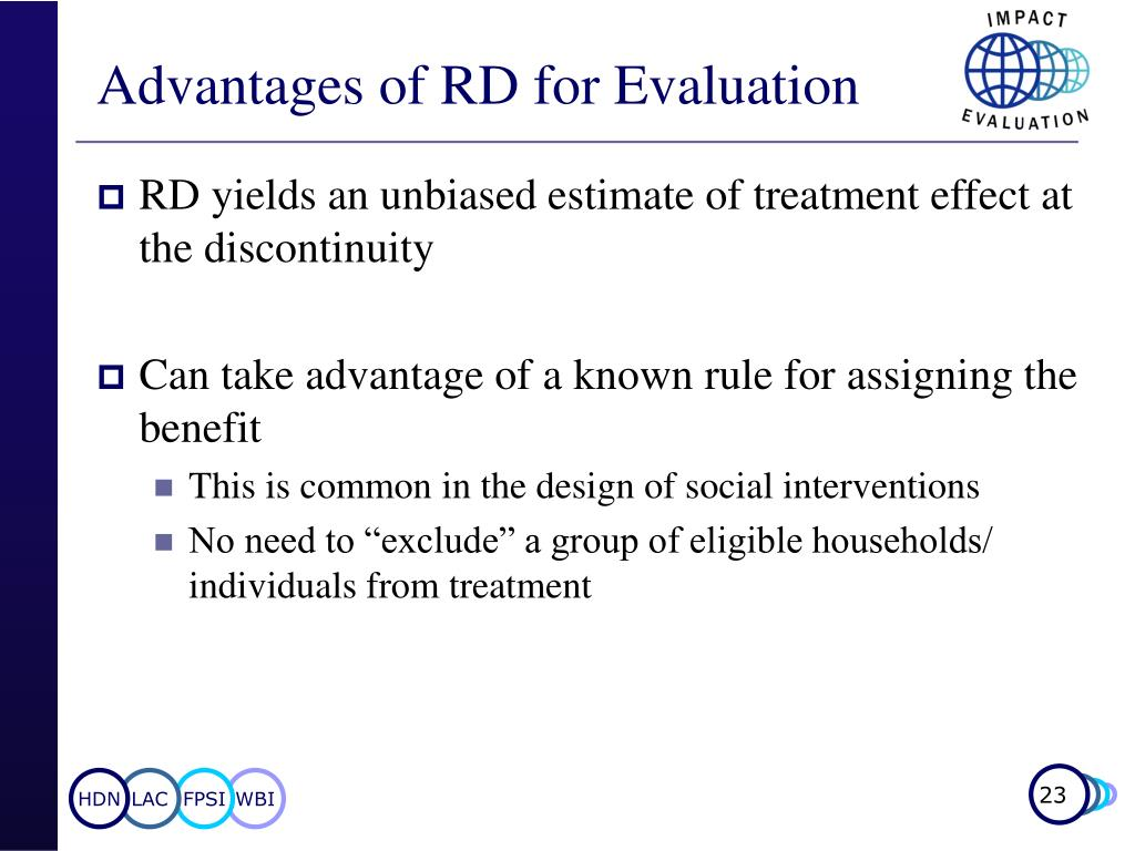 Advantages of RD for Evaluation