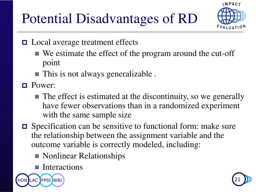 Potential Disadvantages of RD