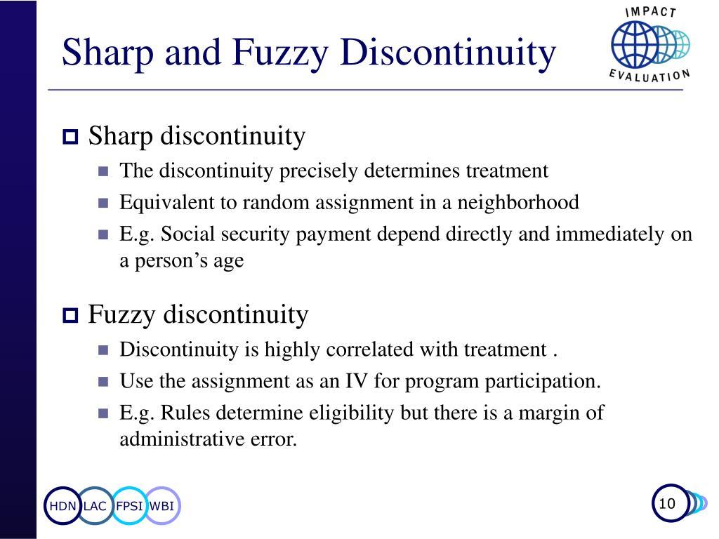 Sharp and Fuzzy Discontinuity