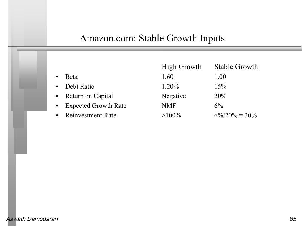 Amazon.com: Stable Growth Inputs