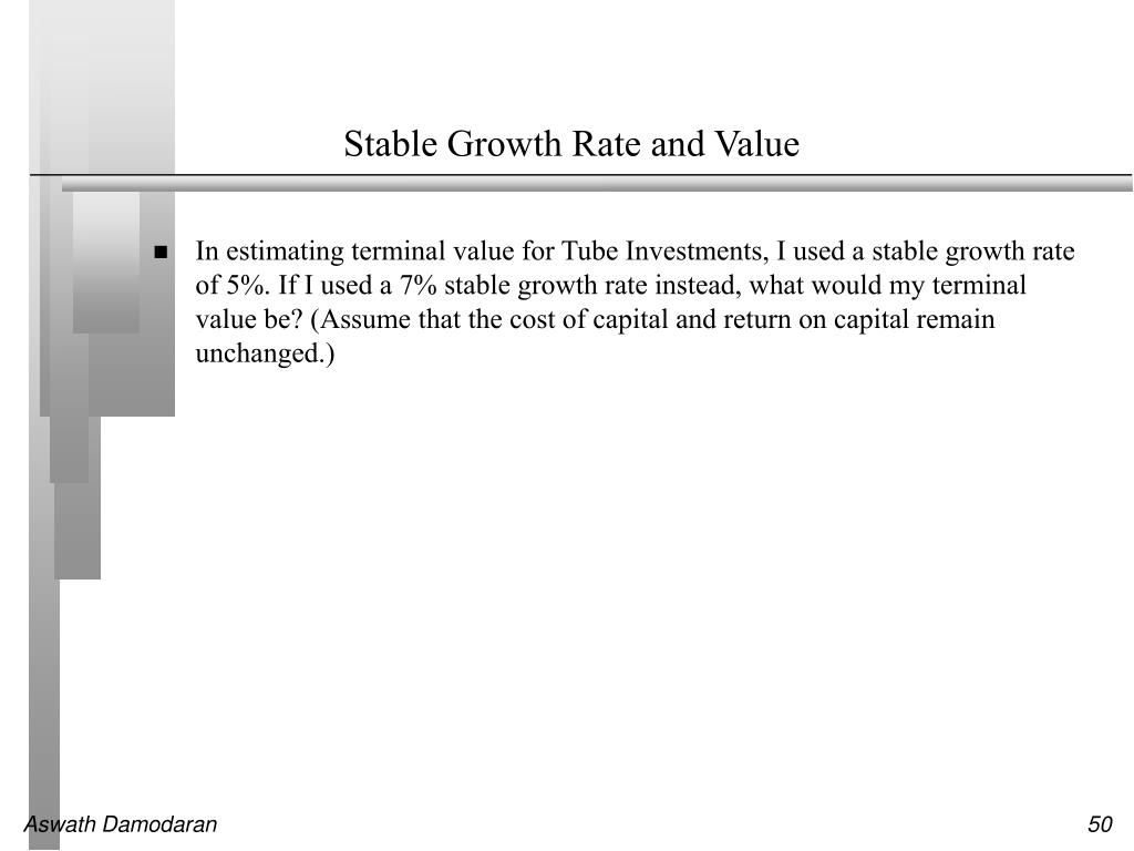 Stable Growth Rate and Value