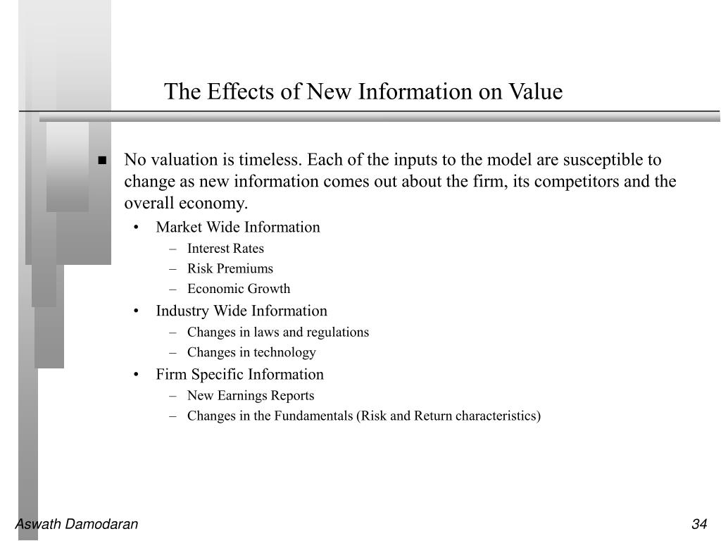 The Effects of New Information on Value