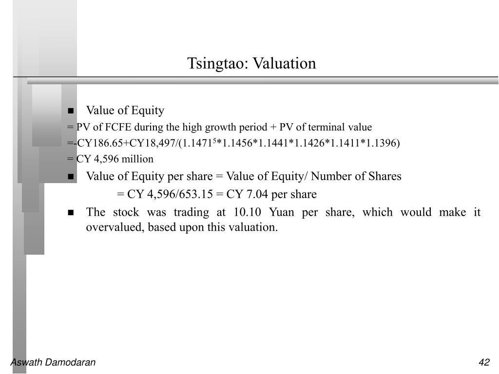 Tsingtao: Valuation