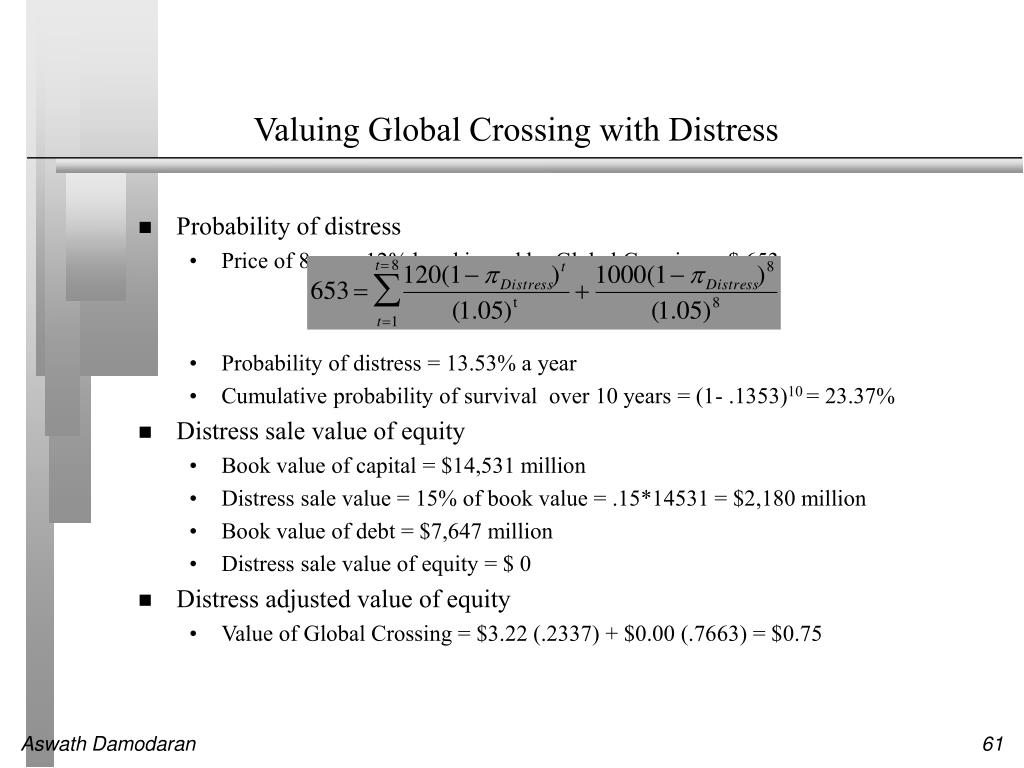 Valuing Global Crossing with Distress