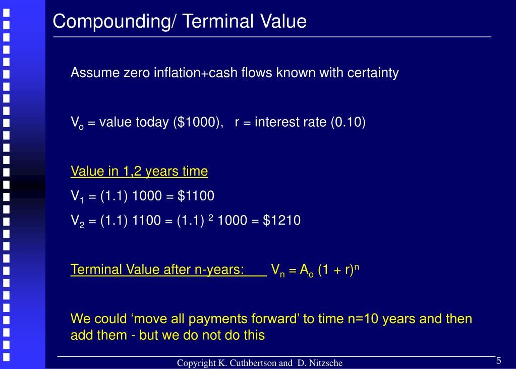 Compounding/ Terminal Value
