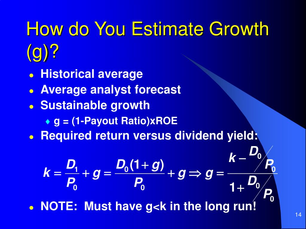 How do You Estimate Growth (g)?