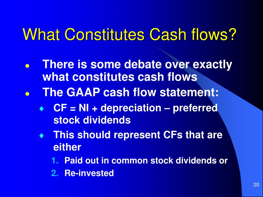 What Constitutes Cash flows?