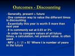 outcomes discounting39
