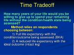 time tradeoff