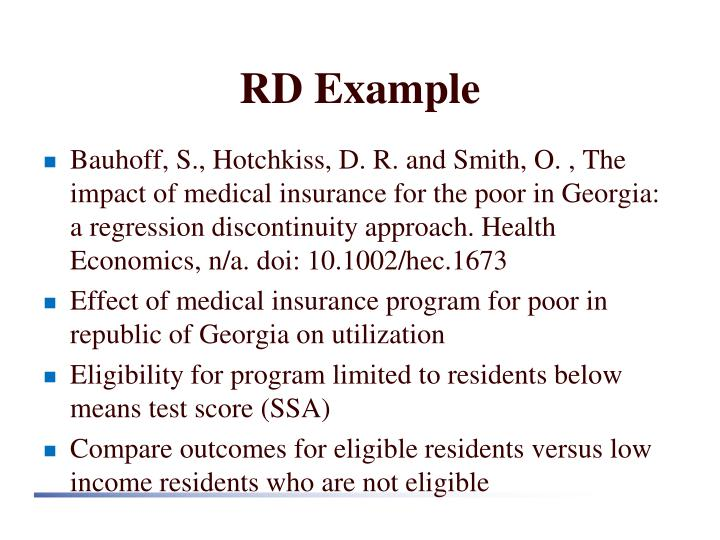 RD Example