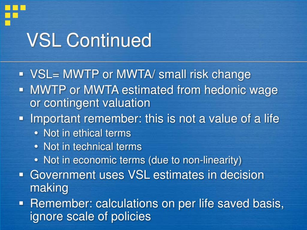 VSL Continued